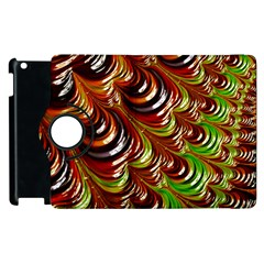 Special Fractal 31 Green,brown Apple Ipad 3/4 Flip 360 Case by ImpressiveMoments
