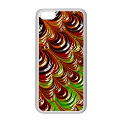Special Fractal 31 Green,brown Apple Iphone 5c Seamless Case (white) by ImpressiveMoments