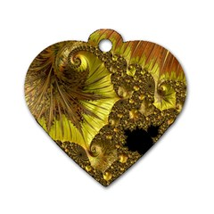 Special Fractal 35cp Dog Tag Heart (one Side) by ImpressiveMoments