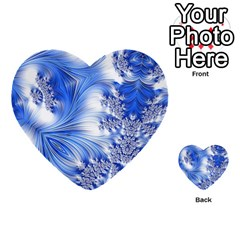Special Fractal 17 Blue Multi Purpose Cards (heart)  by ImpressiveMoments