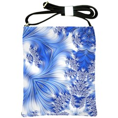 Special Fractal 17 Blue Shoulder Sling Bags by ImpressiveMoments