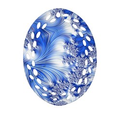 Special Fractal 17 Blue Ornament (oval Filigree)  by ImpressiveMoments