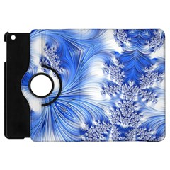 Special Fractal 17 Blue Apple Ipad Mini Flip 360 Case by ImpressiveMoments