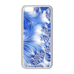 Special Fractal 17 Blue Apple Iphone 5c Seamless Case (white) by ImpressiveMoments