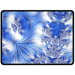 Special Fractal 17 Blue Double Sided Fleece Blanket (large)  by ImpressiveMoments