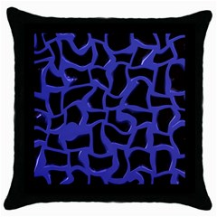 Purple Holes Throw Pillow Case (black) by LalyLauraFLM