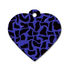 Purple Holes Dog Tag Heart (one Side) by LalyLauraFLM