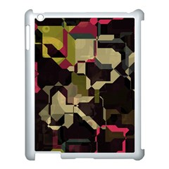 Techno Puzzle Apple Ipad 3/4 Case (white) by LalyLauraFLM