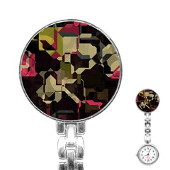 Techno Puzzle Stainless Steel Nurses Watch by LalyLauraFLM
