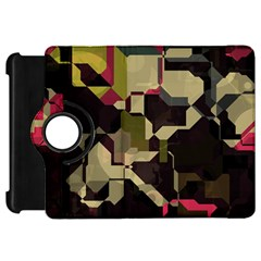 Techno Puzzle	kindle Fire Hd Flip 360 Case by LalyLauraFLM