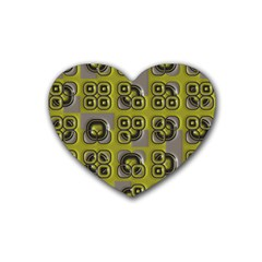 Plastic Shapes Pattern Rubber Coaster (heart) by LalyLauraFLM