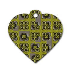 Plastic Shapes Pattern Dog Tag Heart (two Sides) by LalyLauraFLM