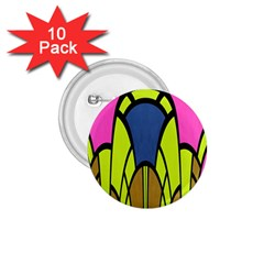 Distorted Symmetrical Shapes 1 75  Button (10 Pack)  by LalyLauraFLM