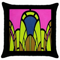 Distorted Symmetrical Shapes Throw Pillow Case (black) by LalyLauraFLM