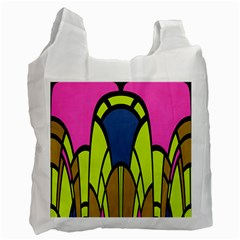 Distorted Symmetrical Shapes Recycle Bag (one Side) by LalyLauraFLM
