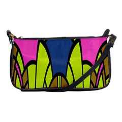 Distorted Symmetrical Shapes Shoulder Clutch Bag by LalyLauraFLM