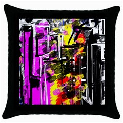 Abstract City View Throw Pillow Cases (black) by theunrulyartist