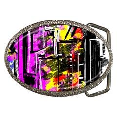 Abstract City View Belt Buckles by theunrulyartist