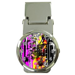 Abstract City View Money Clip Watches