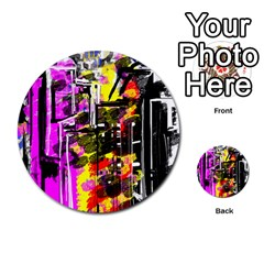 Abstract City View Multi Purpose Cards (round)