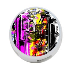 Abstract City View 4 Port Usb Hub (one Side) by theunrulyartist