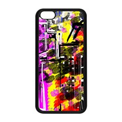 Abstract City View Apple Iphone 5c Seamless Case (black) by theunrulyartist