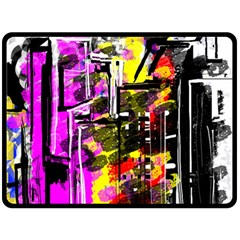 Abstract City View Double Sided Fleece Blanket (large)  by theunrulyartist