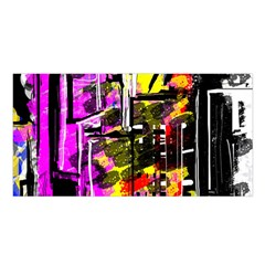 Abstract City View Satin Shawl by theunrulyartist