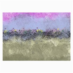 Abstract Garden In Pastel Colors Large Glasses Cloth by theunrulyartist