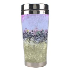 Abstract Garden In Pastel Colors Stainless Steel Travel Tumblers by theunrulyartist