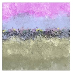 Abstract Garden In Pastel Colors Large Satin Scarf (square) by digitaldivadesigns