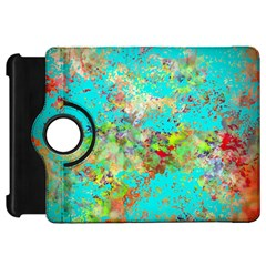 Abstract Garden In Aqua Kindle Fire Hd Flip 360 Case by theunrulyartist