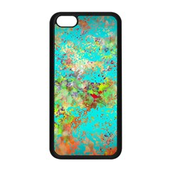 Abstract Garden In Aqua Apple Iphone 5c Seamless Case (black) by theunrulyartist