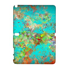 Abstract Garden In Aqua Samsung Galaxy Note 10 1 (p600) Hardshell Case by theunrulyartist