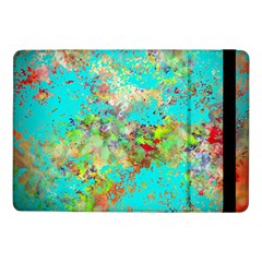 Abstract Garden In Aqua Samsung Galaxy Tab Pro 10 1  Flip Case by digitaldivadesigns