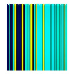 Hot Stripes Aqua Shower Curtain 66  x 72  (Large)  by ImpressiveMoments