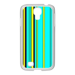 Hot Stripes Aqua Samsung Galaxy S4 I9500/ I9505 Case (white) by ImpressiveMoments