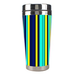 Hot Stripes Aqua Stainless Steel Travel Tumblers by ImpressiveMoments