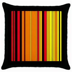 Hot Stripes Fire Throw Pillow Cases (black) by ImpressiveMoments