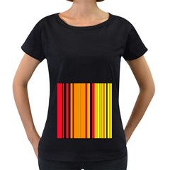 Hot Stripes Fire Women s Loose-Fit T-Shirt (Black) by ImpressiveMoments