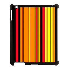Hot Stripes Fire Apple Ipad 3/4 Case (black)