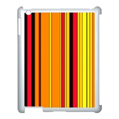 Hot Stripes Fire Apple Ipad 3/4 Case (white) by ImpressiveMoments