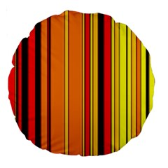 Hot Stripes Fire Large 18  Premium Round Cushions by ImpressiveMoments