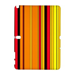 Hot Stripes Fire Samsung Galaxy Note 10 1 (p600) Hardshell Case by ImpressiveMoments