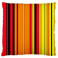 Hot Stripes Fire Standard Flano Cushion Cases (one Side)  by ImpressiveMoments