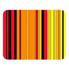 Hot Stripes Fire Double Sided Flano Blanket (large)  by ImpressiveMoments