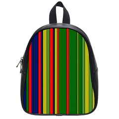 Hot Stripes Grenn Blue School Bags (small)  by ImpressiveMoments