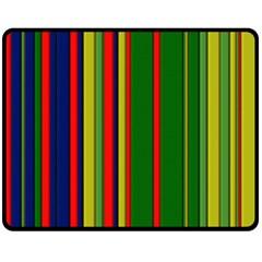 Hot Stripes Grenn Blue Fleece Blanket (medium)  by ImpressiveMoments