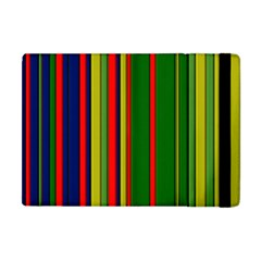 Hot Stripes Grenn Blue Apple iPad Mini Flip Case by ImpressiveMoments
