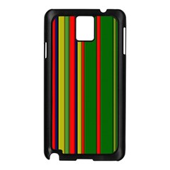 Hot Stripes Grenn Blue Samsung Galaxy Note 3 N9005 Case (black) by ImpressiveMoments
